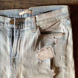 7 for all Mankind Crop Distressed Jeans